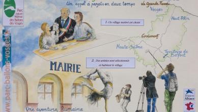 couv carnet de voyage - Mon village et l'artiste