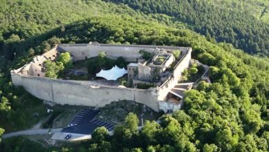 château du hohlandsbourg vue aerienne